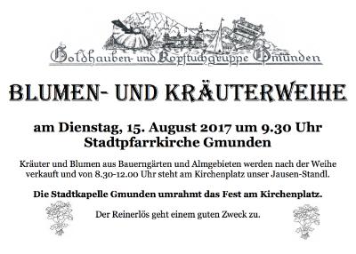 Kräuterweihe Gmunden 15. August 2017